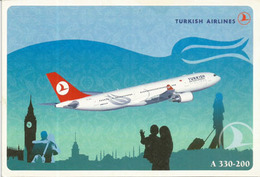 Airbus A 330-200 Of The Turkish Airlines,   Unadressed Postcard - 1946-....: Modern Tijdperk
