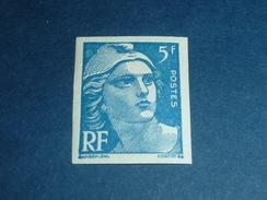 TIMBRE DE FRANCE NON DENTELES N°719B 5.00fr Bleu MARIANNE DE GANDON - NEUF SANS CHARNIERE (C.V) - No Dentado