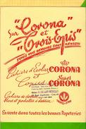 Buvard &Blotting Paper  : CORONA Trois Epis  Jaune   Cahiers Copies Ecoliers Cachet Calais Jaune - Papeterie