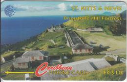 ST. KITTS & NEVIS ISL.(GPT) - Brimstone Hill Fort, CN : 55CSKA(0 With Barred), Mint - St. Kitts & Nevis