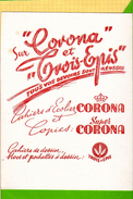 Buvard & Blotting Paper: CORONA Trois Epis  Blanc    Cahier Ecolier   Blanc - Papeterie