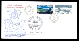 TAAF COVER POLAR EXPEDITION ANTARCTICA GREENLAND 1984 MISSION PAUL EMILE VICTOR * TERRE ADELIE