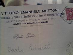 DITTA VITTORIO EMANUELE MUTTONI REFRATTARI EDILIZA  MILANO  X GIUSSANO 2 C 1900 GB13295 - 1878-00 Umberto I