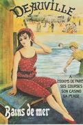 17 / 3 /  275  -  REPRO  AFFICHE  -  DEAUVILLE - Chemins De Fer