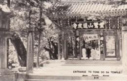Korea Entrance To Tong Do Sa Temple Near Pusan Real Photo - Korea, South