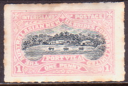 NEW HEBRIDES 1897 Local Stamp Of Australasian New Hebrides Company 1d MH Toned - Other