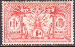 NEW HEBRIDES(English Inscr.) 1911 SG 19 1d MH - English Legend