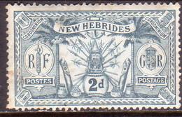 NEW HEBRIDES(English Inscr.) 1911 SG 20 2d MH - English Legend