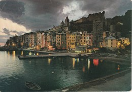 Cartolina - Postcard - Portovenere  Panorama Notturno. - La Spezia
