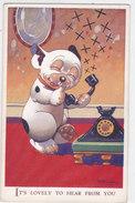 CARD CANE BONZO AL TELEFONO  VALENTINE'S 3729  -FP-N-2-  0882 -27029 - Chiens