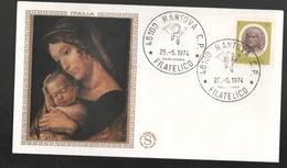 FDC Italia 1974 Mantegna Filagrano Gold Da 50 Lire - 6. 1946-.. Repubblica