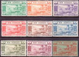 NEW HEBRIDES(English Inscr.) 1938 SG 52-60 Set To 1fr MH CV £35 - English Legend