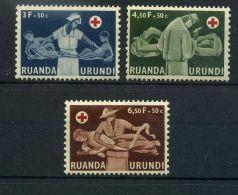 RUANDA-URUNDI (  POSTE ) : Y&T N°  202/204  TIMBRES  NEUFS  SANS  TRACE  DE  CHARNIERE , A  VOIR . - Ruanda-Urundi