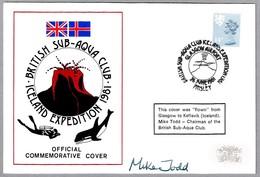 BRITISH SUB-AQUA CLUB ICELAND EXPEDITION - Volcan - Volcano. Glasgow Airport, Paisley, 1981