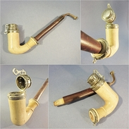 ~ PIPE XIX ème EN ECUME # Tabac Fumeur - Meerschaum Pipes