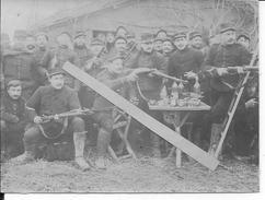1915 Soldats Français Et Sous-officiers Du 20ème R.A Essayant Des Fusils Mauser Allemands 1 Photo 1914-1918 Ww1 1wk - Guerre, Militaire