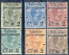 Regno 1890 Serie N. 50 - 55 Sovrastampati MNH Eccezionale Freschezza Cat. € 450 - Mint/hinged