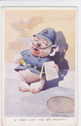 CARD CANE BONZO POLIZIOTTO STRADALE   VALENTINE'S 1951  -FP-N-2-  0882 -27032 - Hunde