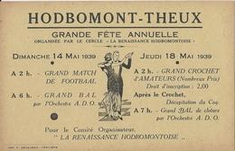 HODBOMONT-THEUX - Trois Documents - Mai 1938 ( 10,5/7,5 Cm) Mai 1939 ( 14/9 Cm) Et ( 14/8 Cm) - Historical Documents