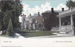 Wisconsin Kenosha Park Avenue Looking South 1909 Curteich - Kenosha