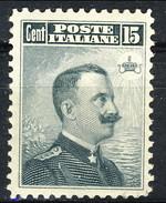 Regno 1906 N. 80 C. 15 Grigio Nero Effige  Dent. 12 MLH Buona Centratura, Cat. 110 - 1900-44 Vittorio Emanuele III
