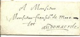 Vouwbrief Van 23 Lmaart 1648 Van ... (Spanje?) Naar Oudenaarde; Geen Postale Aanduidingen - 1621-1713 (Spaanse Nederlanden)