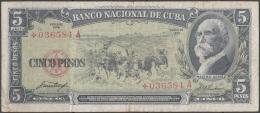 1958-BK-191 CUBA 1958 5$ MAXIMO GOMEZ. REEMPLAZO REPLACEMENT *. - Cuba