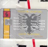 ALBANIA - Telecom Shqiptar 200 Units(reverse BKT Bank), Tirage 23400, 04/96, Mint