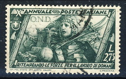 Regno 1932 N. 339 L. 2,75 Verde Oliva Decennale Marcia Su Roma Usato Cat. € 60 - 1900-44 Vittorio Emanuele III