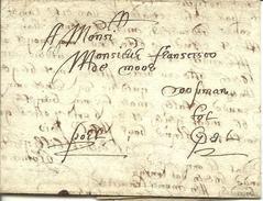 Vouwbrief Van 29 Mei 1654 Van Oudenaarde Naar Gent (?) Met Vermelding 'port' - 1621-1713 (Spaanse Nederlanden)