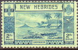 NEW HEBRIDES(English Inscr.) 1938 SG 61 2fr MH CV £30 - Unused Stamps