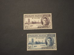 FALKLAND. - 1946 VITTORIA  2 VALORI - NUOVI(++) - Falkland