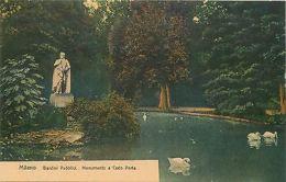 Italy Milano Monumento A Carlo Porta Luxus Postcard PURGO Advertising - Italia