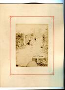 INDOCHINE / TONKIN / VIETNAM 1910 UN PONT  AVEC SOLDAT / PHOTO (17X12 CM)  ANCIENNE SUR CARTON  (27X21 CM) - Lieux