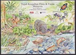 MALAYSIA 2016 Flora & Fauna MS MNH  @J660 - Malaysia (1964-...)