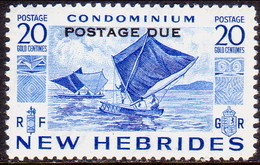 NEW HEBRIDES(English Inscr.) 1953 SG D13 20c MNH Postage Due - Postage Due