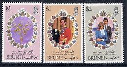 BRUNEI 1981 Royal Wedding MNH / **.  SG 304-06 - Brunei (...-1984)