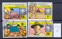 TANSANIA -  205/8  Pfadfinderbewegung  Kompl. Gestemp. - Tanzania (1964-...)