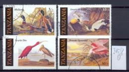 TANSANIA -  315/8  J.J.Audubon   Kompl. Gestemp. - Tanzania (1964-...)