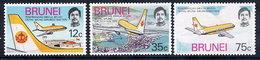 BRUNEI 1975 Royal Brunei Airlines  MNH / **.  SG 241-43 - Brunei (...-1984)