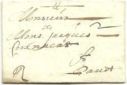 Vouwbrief Van 8 Mei 1678 Van Oudenaarde Naar Gent, Met Port: 2 Stuivers (Tour En Taxis Post) - 1621-1713 (Spaanse Nederlanden)