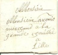 Vouwbrief Van 13 April 1678 Van Oudenaarde Naar Rijsel (LIlle), Met Port: 2 Stuivers (Tour En Taxis Post) - 1621-1713 (Spaanse Nederlanden)