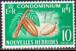 NEW HEBRIDES(French Inscr.) 1968 SG F112 10c MH EiiR At Left Cacao - French Legend