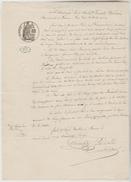 CACHET NOTARIAL 25/08/1873 - BAIL Mrs BENARD / BREAUTE A ROUEN Feuille Simple Timbre Fiscal Humide 50 Cents + 2/10° - Gebührenstempel, Impoststempel