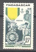 Madagascar: Yvert N° 321*; Médaille Militaire - Madagascar (1889-1960)