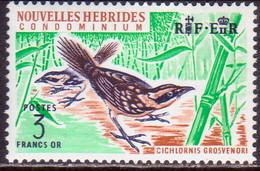 NEW HEBRIDES(French Inscr.) 1965 SG F123 3fr MNH RF At Left Birds - French Legend