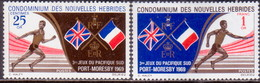 NEW HEBRIDES(French Inscr.) 1969 SG F151-52 Compl.set MLH South Pacific Games - Unused Stamps
