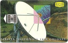 Costa Rica - ICE - Satellite Dish - 12.1995, 120.000ex, Used - Costa Rica
