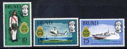 BRUNEI 1971 Royal Brunei Malay Regiment  MNH / **.  SG 178-80 - Brunei (...-1984)