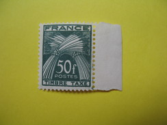Timbre Taxe N°88  Type Gerbes 50 F Vert Foncé, Côte 28.50€ - Taxes